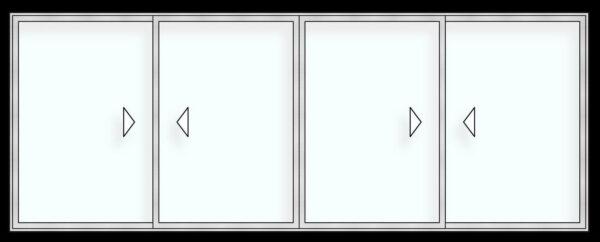 Puerta ventana corrediza H110 vision 2 carriles