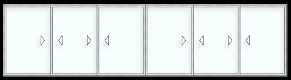Puerta ventana H110 alzante 3 carriles